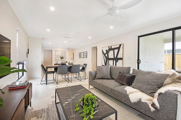 コンテンポラリー リビング by Vantage Homes QLD