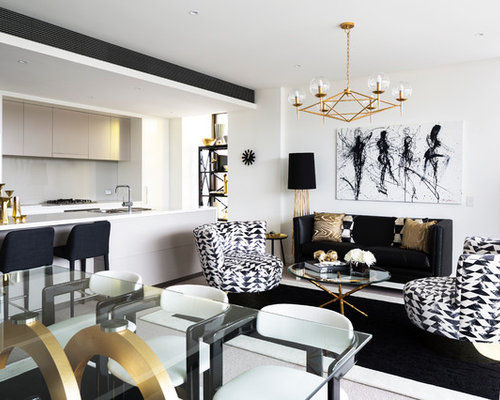 Design Ideas For A Contemporary Living Room In Sydney.