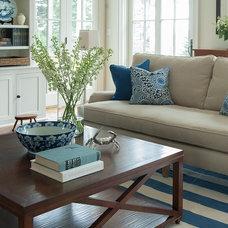 Beach Style Living Room by Banks Design Associates, LTD & Simply Home