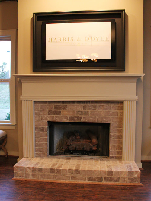 Whitewashed Fireplace Home Design Ideas Pictures Remodel And Decor