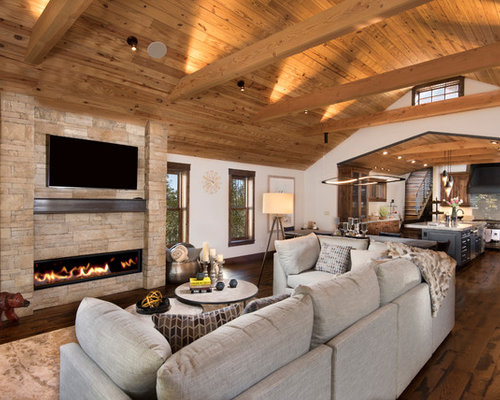 Rustic Living Room Idea In Other