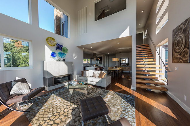 Contemporary Living Room by HomeStage
