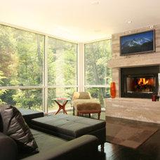 Modern Living Room by Harrison Design