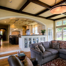 Traditional Living Room by Roberts Wygal