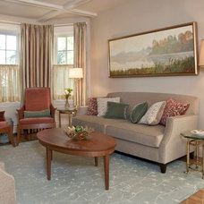 Transitional Living Room by Inner Visions Interiors