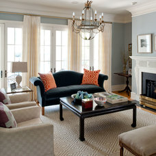 Traditional Living Room by Laura Casey Interiors