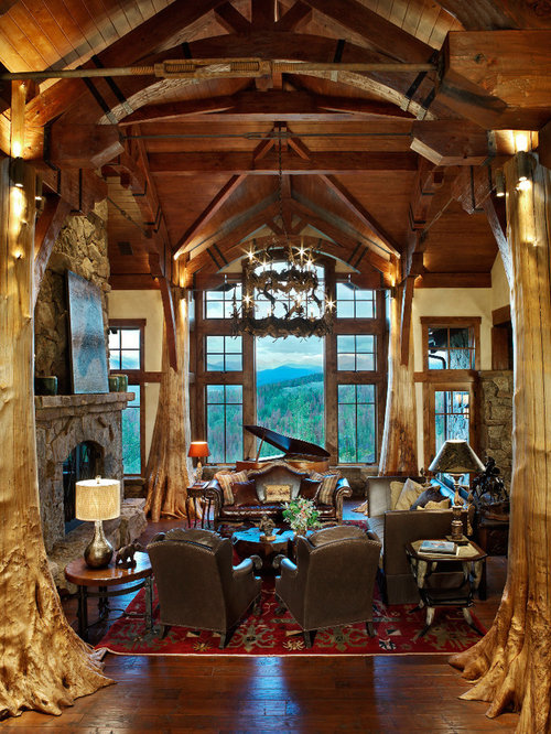 Rustic Great Room Houzz