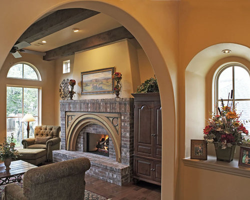 Painted arch houzz for Designs of arches in living room