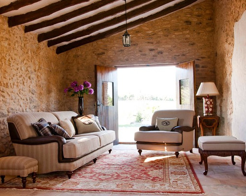 Enclosed Living Room Design Ideas Renovations Photos With Terracotta F