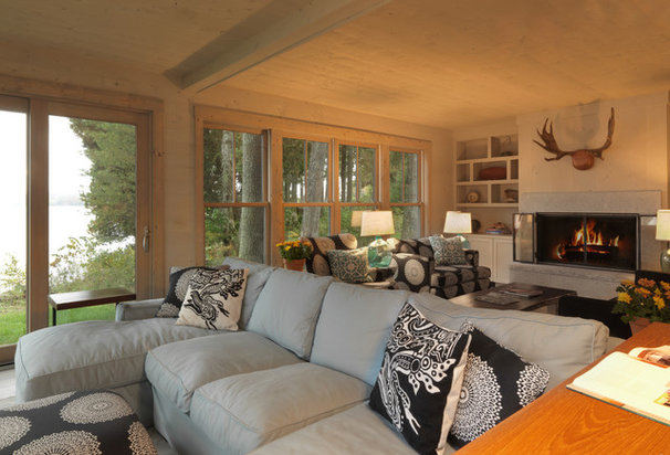 Rustic Living Room by Cushman Design Group