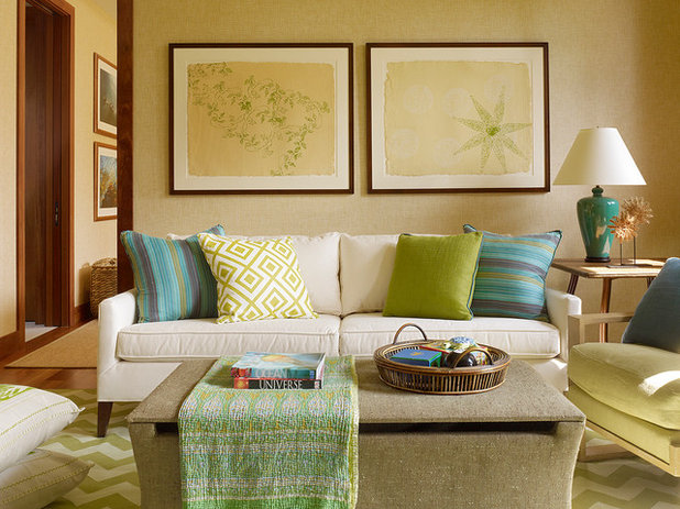 Tropical Living Room By Christine Markatos Design