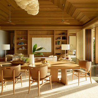 Island Style Formal And Open Concept Living Room Photo In San Francisco