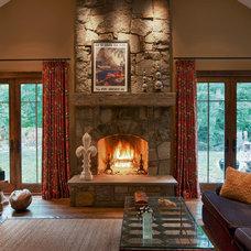 Contemporary Family Room by Michael Mariotti Interior Design