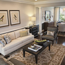 Contemporary Living Room by Mary Cook