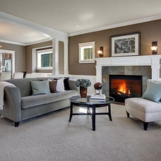 Craftsman Living Room by Lisa Lucas Design