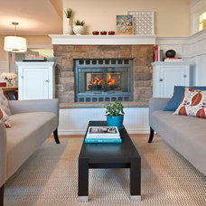 Contemporary Living Room by Kimberly Demmy Design