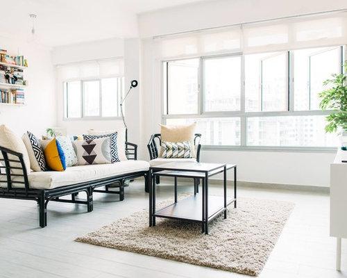 salon victorien avec un sol en carrelage de porcelaine. Black Bedroom Furniture Sets. Home Design Ideas