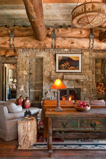 Rustic Living Room by Dan Joseph Architects
