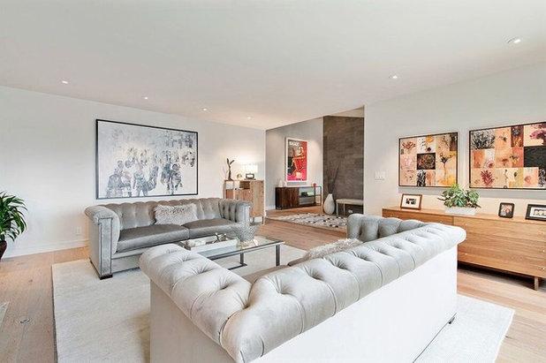 Contemporary Living Room Healdsburg Hillside Ranch