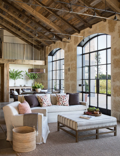 Farmhouse Living Room by Jute Interior Design