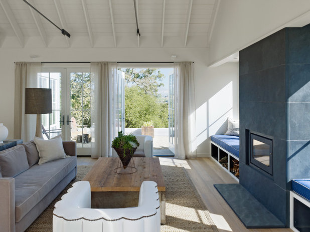 Farmhouse Living Room by Nick Noyes Architecture