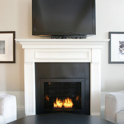 Hearth Cabinet Ventless Fireplaces - Hearth Cabinet Ventless Fireplace - Custom Traditional Black - Pricing available upon request - 212.242.1485