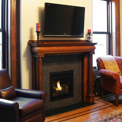 Hearth Cabinet Ventless Fireplaces - Hearth Cabinet Ventless Fireplace - Small Traditional Black - Pricing Available Upon Request - 212.242.1485