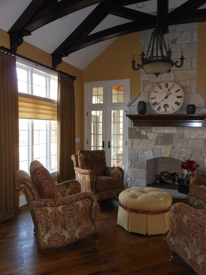Traditional Living Room by Designing Interiors Inc