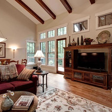 Craftsman Living Room by Living Stone Construction, Inc.