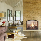 Heat & Glo Escape - Take comfort to the next level, and Escape. This innovative, see-through fireplace blends style with function. The Escape is also loaded with innovations, like the Intellifire Plus® auto-ignition system and direct vent technology, to name a few.