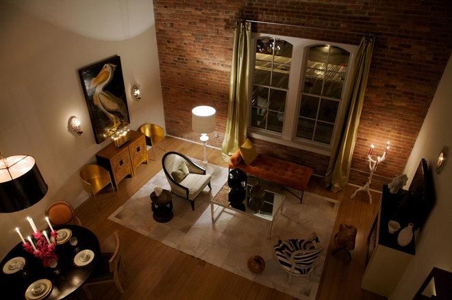 Industrial Living Room by Heather Garrett Design