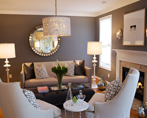 Living room wall decor houzz for Living room decor ideas houzz