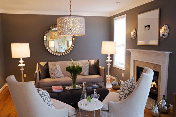 American Traditional Living Room by Heather Garrett Design
