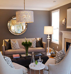 contemporary living room by Heather Garrett Design