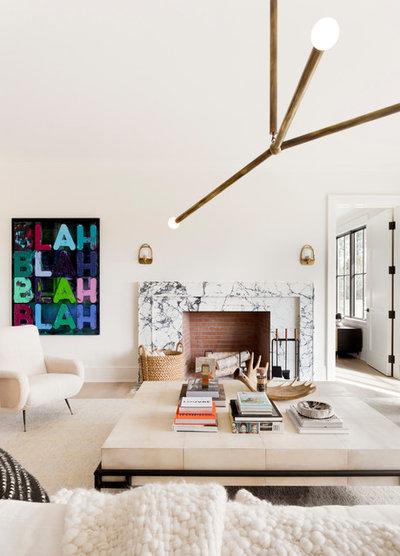 Scandinavian Living Room by Tamara Magel Studio