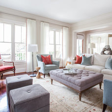 Transitional Living Room by Laura U, Inc.