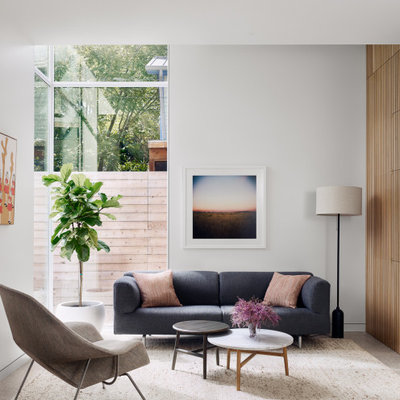 Inspiration for a contemporary living room remodel in Austin