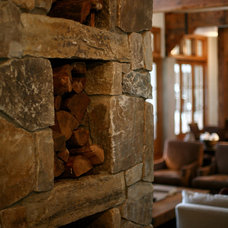 Rustic Living Room by Bosworth Hoedemaker