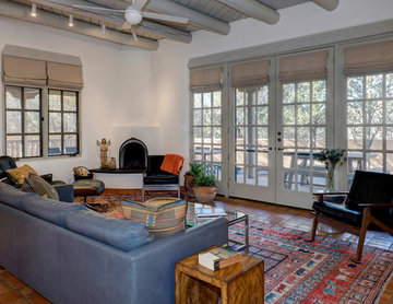 HERE Design and Architecture Santa Fe Renovations - Living Room