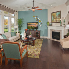 Eclectic Living Room by David Weekley Homes