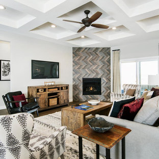 Example Of A Minimalist Living Room Design In Jacksonville