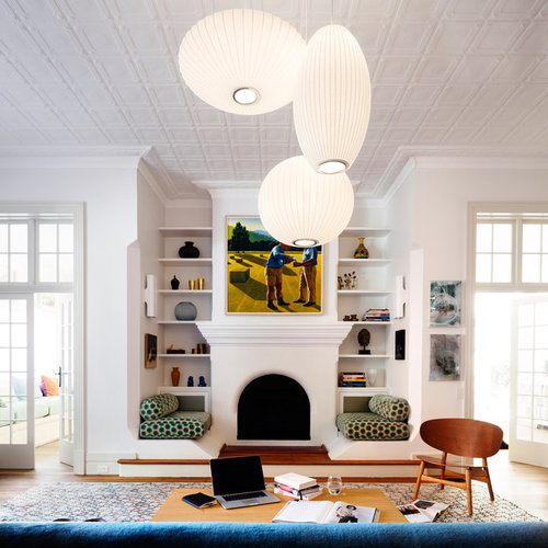This Is An Example Of A Transitional Formal Living Room In Sydney With  White Walls,