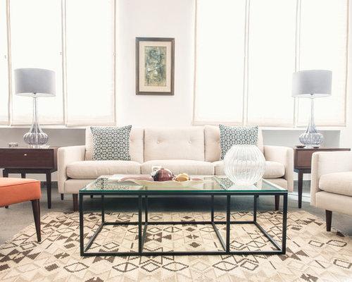Midcentury Modern Formal Living Room Photo In London