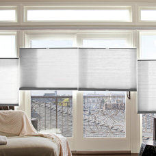 Traditional Living Room by Superior Roman Shades
