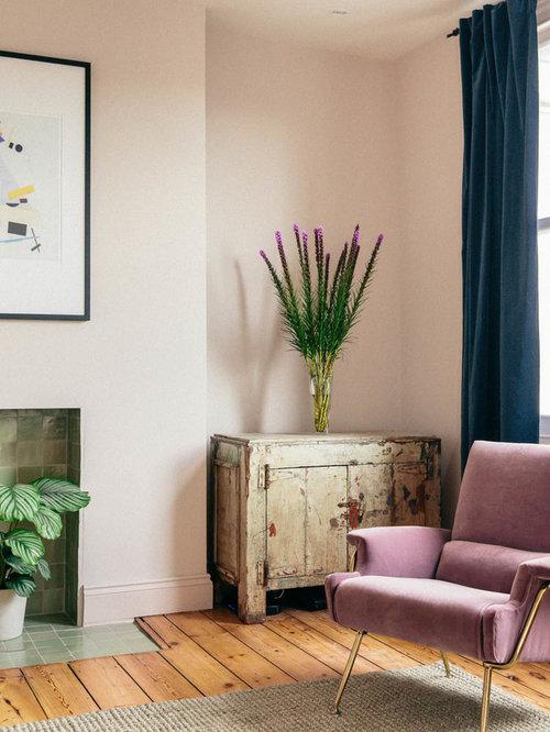 Pareti Soggiorno Rosa : Soggiorno moderno con pareti rosa foto e idee per arredare