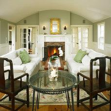 Farmhouse Living Room by Patrick Ahearn Architect