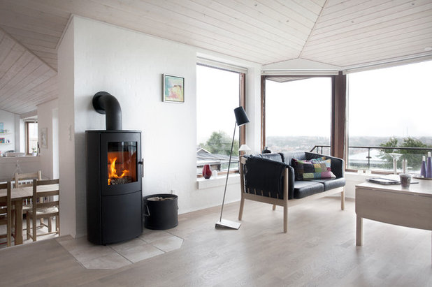 Scandinavian Living Room by Orion Heating - Woodburning Stoves