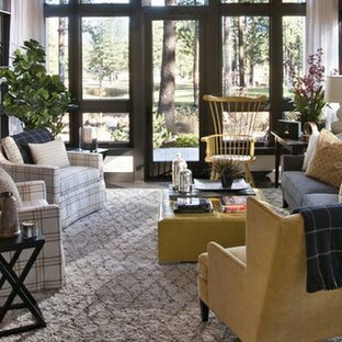 Living room - transitional living room idea in Baltimore