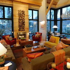 Contemporary Living Room by Gristmill Builders, LTD