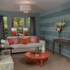 Eclectic Living Room by Design Studio2010, LLC